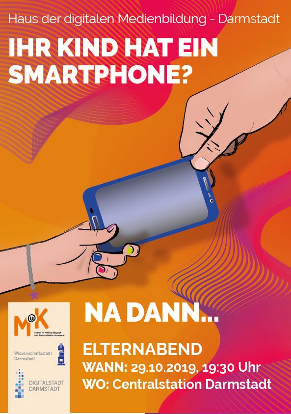 Plakat ihr Kind hat ein Smartphone